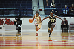 Ole Miss Lady Rebels' Valencia McFarland (3) vs. Mississippi Valley State's Davina Jefferson (15) at the C.M. &quot;Tad&quot; Smith Coliseum in Oxford, Miss. on Tuesday, November 27, 2012.