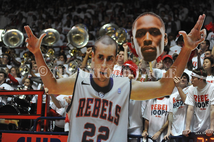 A cutout of Ole Miss' Marshall Henderson (22) at the Ole Miss vs. Kentucky at the C.M. &quot;Tad&quot; Smith Coliseum on Tuesday, January 29, 2013.