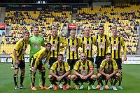 The Phoenix team photo during the A League - Wellington Phoenix v Adelaide United, Wellington, New Zealand on Sunday 30 March 2014. <br /> Photo by Masanori Udagawa. <br /> www.photowellington.photoshelter.com.