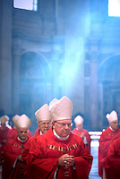 Cardinal William Joseph Levada,Pope Benedict XVI during a Mass  for cardinals and bishops deceased over the year, inside St. Peter's  Basilica,  at the Vatican.Nov. 3, 2008.         .