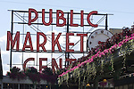 . For over a century a century, the Pike Place Market, has become a city institution and a national attraction, bringing in over a million tourists a year. .Jim Bryant Photo. ©2010. ALL RIGHTS RESERVED.