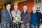 Niall Kelleher, John kelleher, Aenie O'Leary and Denny Donnellyat the launch of the Sliabh Luachra Journel in Gneeveguilla GAA hall on Friday night