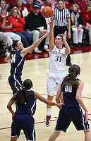 Stanford, CA; Saturday December 29, 2012: Women's Basketball, Stanford vs U. Connecticut.