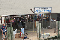 Ocean Beach ferry terminal is pictured on Fire Island in New York state, Wednesday August 3, 2011. The incorporated villages of Ocean Beach and Saltaire within Fire Island National Seashore are car-free during the summer tourist season and permit only pedestrian and bicycle traffic.