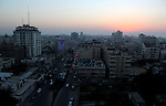 A Photo shows the last sunset of 2012 over Gaza city, Monday, Dec. 31, 2012. Photo by Ezz al-Zanoon