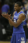 Brandon Knight near the end of the Sweet 16 game against Ohio State, in which Kentucky won 62-60, of the 2011 NCAA Basketball Tournament, at the Prudential Center, in Newark, NJ, on Saturday, March 25, 2011.  Knight broke the freshman scoring record with the final shot of the game. Photo by Latara Appleby | Staff