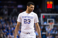 BROOKLYN, NY - Saturday December 19, 2015: Jamal Murray (#23) of Kentucky and his Wildcats take on the Ohio State Buckeyes as the two teams square off in the CBS Classic at Barclays Center in Brooklyn, NY.