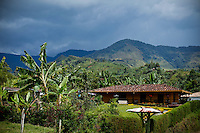 General view of a local house in the town of Jardin in Antioquia August 1, 2012. Photo by Eduardo Munoz Alvarez / VIEW.