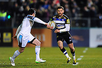 Jeff Williams of Bath Rugby in possession. Aviva Premiership match, between Bath Rugby and Newcastle Falcons on March 18, 2016 at the Recreation Ground in Bath, England. Photo by: Patrick Khachfe / Onside Images