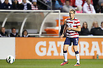 20 October 2012: Kelley O'Hara (USA). The United States Women's National Team played the Germany Women's National Team at Toyota Park in Bridgeview, Illinois in a women's international friendly soccer match. The game ended in a 1-1 tie.