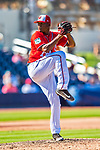 28 February 2017: Washington Nationals pitcher Enny Romero in Spring Training action during the inaugural game against the Houston Astros at the Ballpark of the Palm Beaches in West Palm Beach, Florida. The Nationals defeated the Astros 4-3 in Grapefruit League play. Mandatory Credit: Ed Wolfstein Photo *** RAW (NEF) Image File Available ***