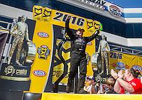 Sep 18, 2016; Concord, NC, USA; NHRA top fuel driver Scott Palmer during the Carolina Nationals at zMax Dragway. Mandatory Credit: Mark J. Rebilas-USA TODAY Sports
