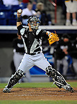 13 March 2008: Florida Marlins' catcher Mike Rabelo in action during a Spring Training game against the Washington Nationals at Space Coast Stadium, in Viera, Florida. The Marlins defeated the Nationals 2-1 in the Grapefruit League matchup...Mandatory Photo Credit: Ed Wolfstein Photo