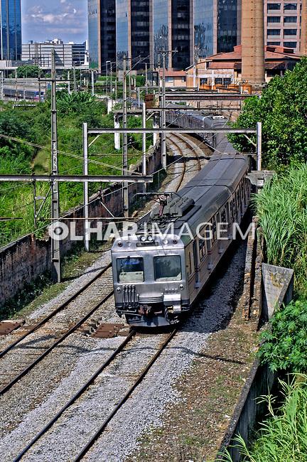 Transporte ferroviário na cidade de São Paulo. 2008. Foto de Juca Martins.