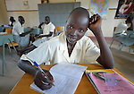 A girl studies in class at the Loreto Secondary School in Rumbek, South Sudan. The school is run by the Institute for the Blessed Virgin Mary--the Loreto Sisters--of Ireland.