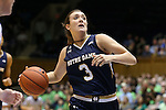 01 February 2016: Notre Dame's Marina Mabrey. The Duke University Blue Devils hosted the University of Notre Dame Fighting Irish at Cameron Indoor Stadium in Durham, North Carolina in a 2015-16 NCAA Division I Women's Basketball game. Notre Dame won the game 68-61.