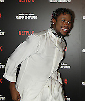 NEW YORK, NY-August 11:  Justice Smith at NETFLIX presents the New York premiere of The Get Down at Lehman Center for the Performing Arts in Bronx .NY. August 11, 2016. Credit:RW/MediaPunch