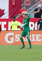 July 20, 2013: Columbus Crew goalkeeper Andy Gruenebaum #30 in action during a game between Toronto FC and the Columbus Crew at BMO Field in Toronto, Ontario Canada.<br /> Toronto FC won 2-1.