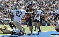 Beau Sweeney runs in for the touchdown. The University of California Berkeley Golden Bears defeated the UC Davis Aggies 52-3 in their home opener at Memorial Stadium in Berkeley, California on September 4th, 2010.