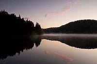 Dawn on Proscansko lake near Ljeskovac village, Upper Lakes, Plitvice National Park, Croatia