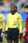 CHESTER, PA - MARCH 01: Assistant Referee Princess Brown (JAM). The United States Women's National Team played the Germany Women's National Team as part of the She Believes Cup on March 1, 2017, at Talen Engery Stadium in Chester, PA. The United States won the game 1-0.