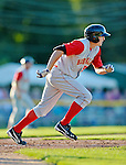 18 August 2012: Brooklyn Cyclones outfielder Brandon Nimmo in action against the Vermont Lake Monsters at Centennial Field in Burlington, Vermont. The Lake Monsters defeated the Cyclones 4-1 in NY Penn League action. Mandatory Credit: Ed Wolfstein Photo