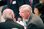 HRH the Duke of Gloucester gives a speech prior to a commemorative dinner the day before the 60th anniversary of the start of the Korean War in Seoul, South Korea on 24 June, 2010..