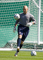 Marcus Hahnemann during training in Hamburg, Germany, for the 2006 World Cup, June, 8, 2006.