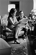 USA. November 16th, 1969. Italian film star Gina Lollobrigida reading a letter with American businessman George Kaufman. They plan to marry but Italian law does not recognize divorce and regards her still married to Dr. Miklo Skofic.