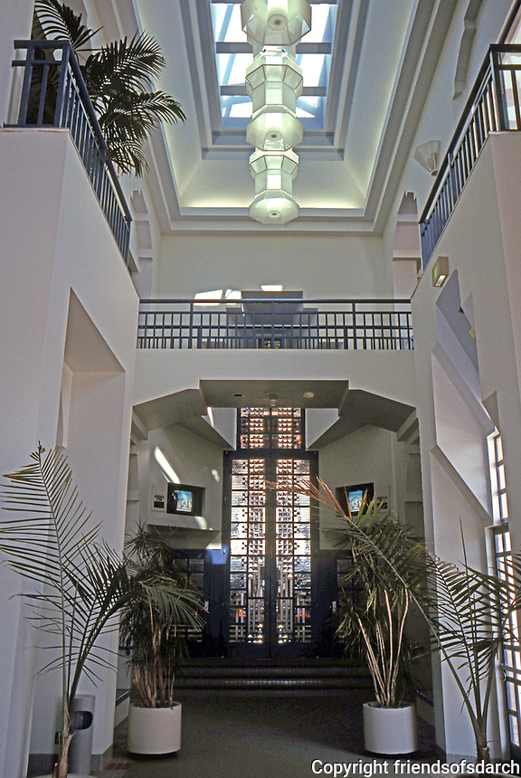 Charles Moore: Oceanside City Hall--Lobby, Entrance to City Council Chambers. (Photo '91)