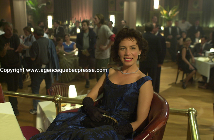 Nov 2003 File Photo<br /> Celine Bonnier on the set of Monica La Mitraille