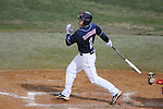 Ole Miss' Alex Yarbrough (2) bats at Oxford-University Stadium in Oxford, Miss. on Wednesday, March 9, 2010.