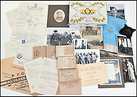 BNPS.co.uk (01202 558833)<br /> Pic: C&amp;TAuctions/BNPS<br /> <br /> A poignant time capsule containing the last belongings of a tragic airman his grief-stricken parents couldn't bring themselves to look at has been discovered during a house clearance.<br /> <br /> The poignant archive of letters, logbooks, diary, photos and medals relating to Flight Sergeant Norman Mayo were placed in a small suitcase in 1945 by Albert and Annie Mayo and seemingly never opened again.<br /> <br /> The black leather case was found stashed under a bed by a house clearance firm tasked with getting rid of the contents before the empty property in Finchley, North London.<br /> <br /> The archive is now being sold by C&amp;T Auctioneers.