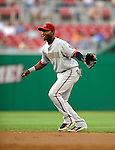 10 July 2008: Arizona Diamondbacks' second baseman Orlando Hudson in action against the Washington Nationals at Nationals Park in Washington, DC. The Diamondbacks defeated the Nationals 7-5 in 11 innings to take the rubber match of their 3-game series in the Nation's Capitol...Mandatory Photo Credit: Ed Wolfstein Photo