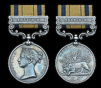 BNPS.co.uk (01202 558833)<br /> Pic: DixNoonanWebb/BNPS<br /> <br /> A medal awarded to a British hero of Rorke's Drift, the epic battle immortalised in the film Zulu, has emerged fro sale.<br /> <br /> Private Michael Minehan was one of the 150 British soldiers who defended the Rorke's Drift mission station from 4,000 Zulu warriors in 1879.<br /> <br /> The incredible action resulted in 11 Victoria Crosses being awarded and was made famous by the 1964 movie starring Michael Caine.<br /> <br /> Pte Minehan was in the front line of 'B' Company and fought off the marauding Zulus, first by shooting at them and then using close hand-to-hand combat involving bayonets and spears.<br /> <br /> His medal, which is being sold by Dix Noonan Webb is expected to fetch &pound;30,000 on December 8 (Thurs).