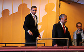 United States President Barack Obama (L), activist and TV journalist Reverend Al Sharpton and District of Columbia Delegate Eleanor Holmes Norton arrive at the Kennedy Center for the Performing Arts, to attend the Let Freedom Ring Celebration, in Washington, DC, USA, to honor today's Martin Luther King Jr national holiday, 16 January 2012. .Credit: Mike Theiler / Pool via CNP