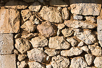 Old stone wall in France