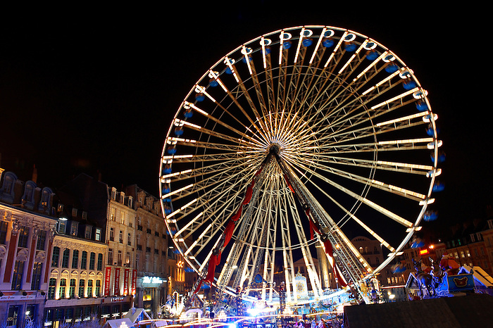 Ferris wheel at the Christmas Market, Lille