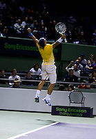 Rafael NADAL (ESP) against Jo-Wilfred TSONGA (FRA) in the quarter finals of the men's singles. Rafael Nadal beat Jo-Wilfred Tsonga 6-3 6-2..International Tennis - 2010 ATP World Tour - Sony Ericsson Open - Crandon Park Tennis Center - Key Biscayne - Miami - Florida - USA - Wed 31 Mar 2010..© CameraSport - 43 Linden Ave. Countesthorpe. Leicester. England. LE8 5PG - Tel: +44 (0) 116 277 4147 - admin@camerasport.com - www.camerasport.com