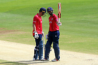 Varun Chopra of Essex celebrates scoring a half-century, 50 runs during Kent Spitfires vs Essex Eagles, Royal London One-Day Cup Cricket at the St Lawrence Ground on 17th May 2017