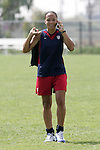 28 September 2006: Angela Hucles. The United States Women's National Team trained at the Home Depot Center in Carson, California.