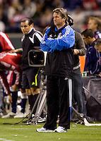 San Jose Earthquakes headcoach Frank Yallop. CD Chivas USA defeated the San Jose Earthquakes 3-2 at Home Depot Center stadium in Carson, California on Saturday April 24, 2010.  .