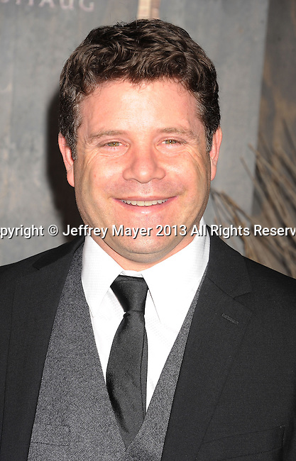HOLLYWOOD, CA- DECEMBER 02: Actor Sean Astin arrives at the 'The Hobbit: The Desolation Of Smaug' at the Dolby Theater on December 2, 2013 in Hollywood, California.