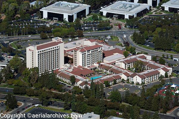 aerial photograph Marriott hotel, Santa Clara, California