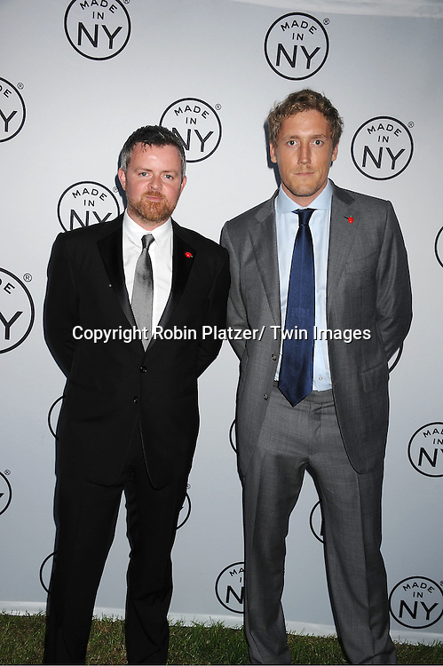 """honorees Brian  Carmody and Patrick Milling Smith of Smuggler attending The """"Made in NY"""" Awards at Gracie Mansion.on June 6, 2011. Matt Damon, John Leguizammo and Lauren Zalaznick and Sidney Lumet were the honorees."""