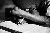 Puri 05.02.2009 India ( Orissa).Ishopanthi Ashram - christian mission made by fr. Marian Zelazek SVD. Karunalaya a leprosy care center, leprosy colony. A mercy kichen, meal provided for about 80 people..Photo Maciej Jeziorek/Napo Images.