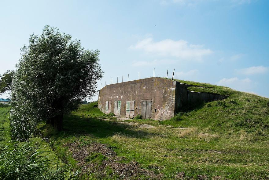 Nederland, Zaanstad, 4 sept 2014<br /> Fort nabij Wormerveer.  Dit fort is onderdeel van de stelling van Amsterdam.<br /> Foto: (c) Michiel Wijnbergh