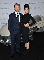 Actor Michael Sheen &amp; girlfriend actress Sarah Silverman at the world premiere of &quot;Passengers&quot; at the Regency Village Theatre, Westwood. <br /> December 14, 2016<br /> Picture: Paul Smith/Featureflash/SilverHub 0208 004 5359/ 07711 972644 Editors@silverhubmedia.com