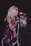 Vince Neil of Motley Crue Jan 1984 at New Haven Coliseum