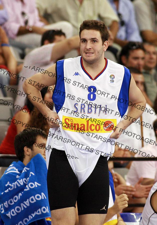 Sport Kosarka Basketball Eurobasket 2007 Spain Spanija European Basketball Championship Evropsko Prvenstvo u Kosarci Granada , Serbia Russia Srbija Rusija Labovic Dragan 3.9.2007. photo: Pedja Milosavljevic